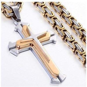 Other - Jewelry Stainless Steel Cross Pendant Necklace